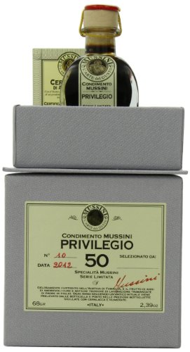 Mussini 50 Year Balsamic Vinegar, Il Privilegio, 2.39 Ounce Glass Bottle