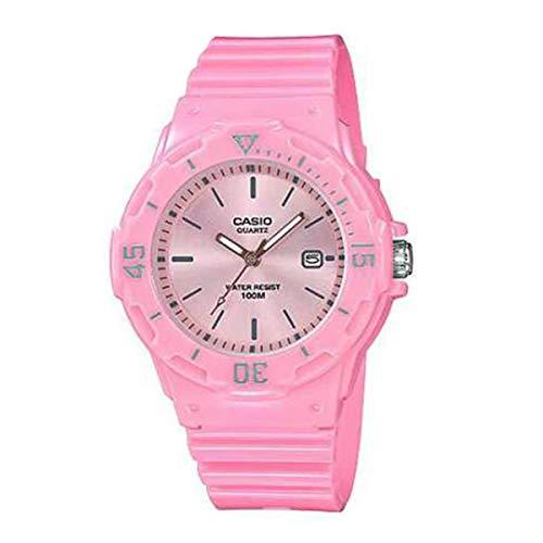 Casio Lrw-200h-4e4 Reloj Analógico para Chica Caja De Resina Esfera Color Rosa