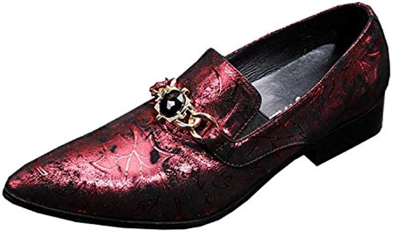 Rui Landade Oxford för mansformella skor glider på stil äkta äkta äkta läder Imitation Crystal Delicate Vintage Embrossed Texture  2018 senaste