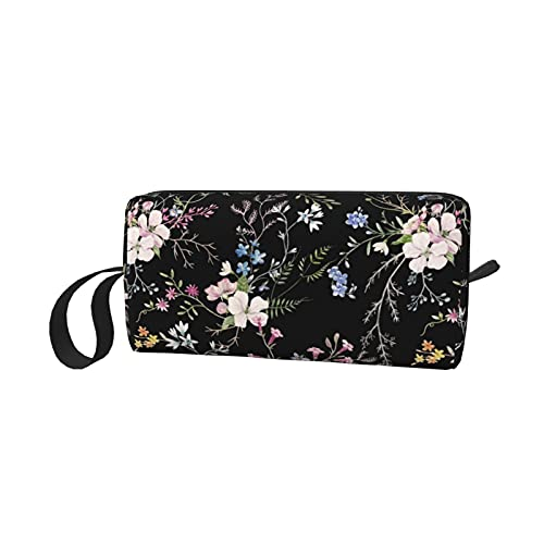 ~ Makeup Bag for Women Girls,Adorable Roomy Cosmetic Bags Travel Waterproof Toiletry Bag Reusable Storage Bag Accessories Organizer(Watercolor Spring Flower Fable Floral)