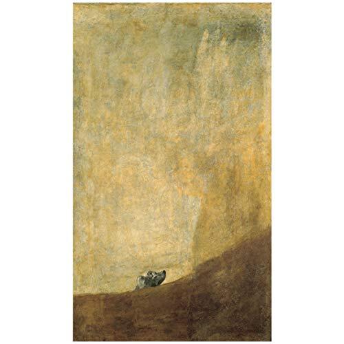 """Cartel del Museo del Prado """"Perro semihundido-Goya"""""""