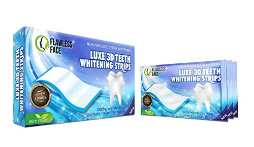 Teeth Whitening Strips - 28 Strips for Natural Clean Smile - 14 Days Advanced Non-Peroxide Teeth Whitening Kit - Home Tooth Whitening Non Crest Treatment 3D Advanced Effects - Free P&P - UK Seller