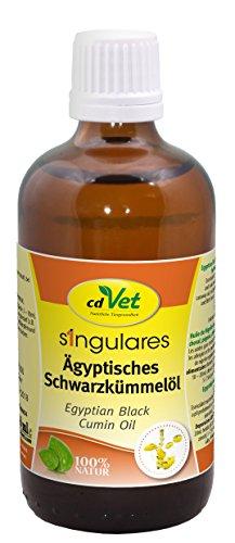 cdVet Singulares Ägyptisches Schwarzkümmelöl 100ml - Natürliches Öl kaltgepresst zur Nahrungsergänzung bei Hund, Katze, Pferd und Taube durch Vitamine und Fette, 167