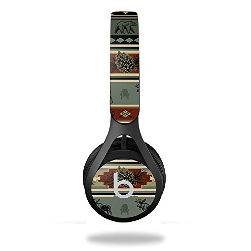 MightySkins Skin Compatible with Beats by Dr. Dre EP Headphones – Cabin Stripes   Protective, Durable, and Unique Vinyl Decal wrap Cover   Easy to Apply, Remove, and Change Styles   Made in The USA