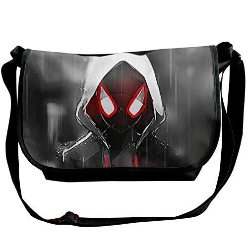 MEIRIGO Spiderman Multifunctional Daily Straddle Shoulder Bag Package Single Shoulder Pack Black for Men Women