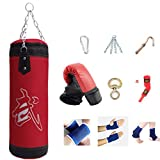 xxz Saco de Boxeo Pesado, Saco de Arena con Saco de Boxeo, Saco de Arena de Entrenamiento de Muay Thai Kickboxing, Bolsa vacía, para niños Adultos