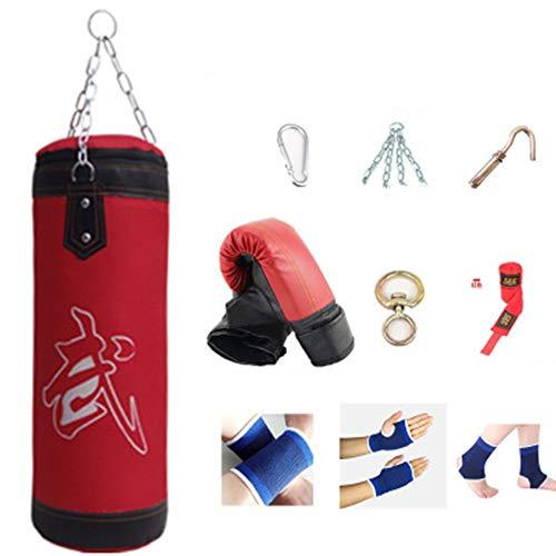 xxz Schwerer Boxsack, Boxsandsack Haken Kick Sandsack, Kickboxen Muay Thai Training Fitness Workout Set, Leere Tasche, für Kinder Erwachsene