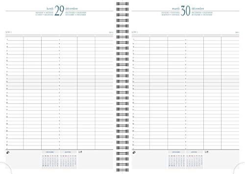 Time 29 2021 mit Spirale 2 Farben sortiert Tisch-Kalender