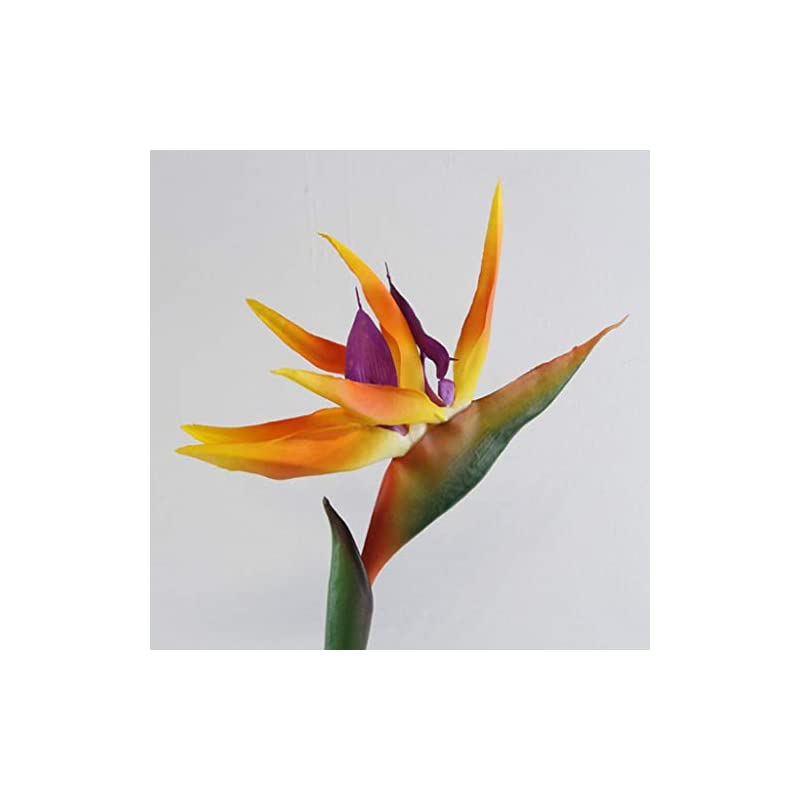silk flower arrangements dserw artificial flower bird of paradise,artificial flower bird of paradise fake plant silk strelitzia reginae home decor - orange