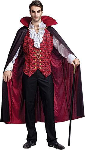 Spooktacular Creations Renacimiento Medieval vampiro espantoso lujo disfraz de Halloween para hombres juego de rol pecados Cosplay - Rojo - XX-Large