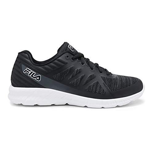 Fila Men's, Memory Finity 3 Running Sneakers (8) Black/White
