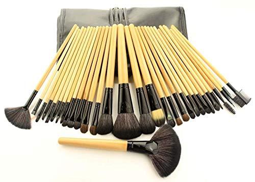 MPKHNM Beauty tools 32 black makeup brush set pink makeup lychee pattern 32 logs (B) lychee pattern portable models
