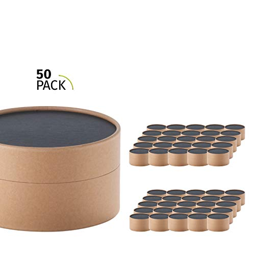 50er Pack, betubed runde Pappdose Papierdose Geschenkverpackung, Farbe: craft Durchmesser 123mm, Höhe 60mm, plastikfrei und nachhaltig.