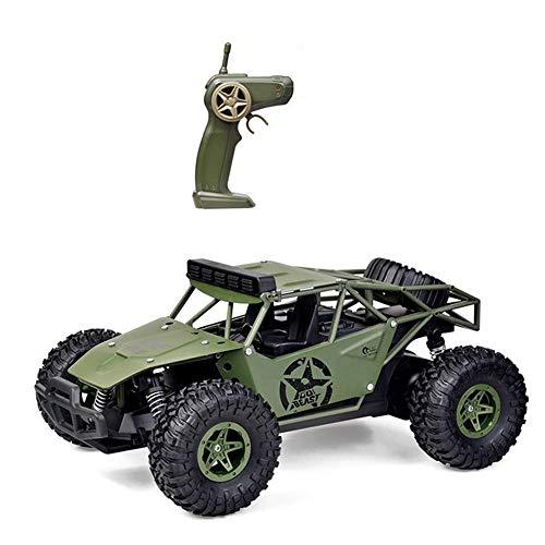 LQZCXMF Alloy war wolf 1:16 coche de control remoto todoterreno 2.4G vehículo de escalada todoterreno recargable modelo de tarjeta militar todoterreno de alta velocidad súper potente camión de control