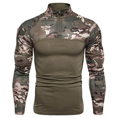 KBUY Herren Tactical Shirt Combat Shirt...
