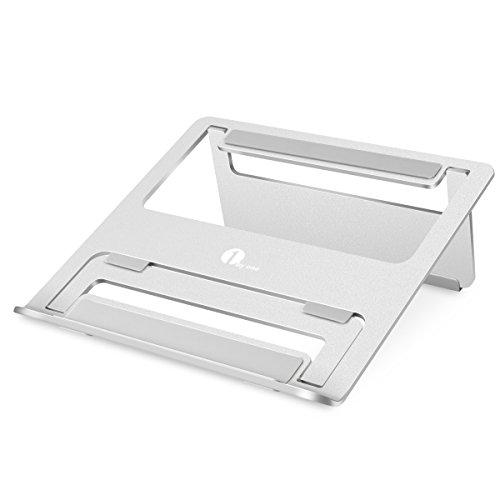 1byone soporte plegable y portátil para ordenadores portátiles, Macbooks, tablets, plata