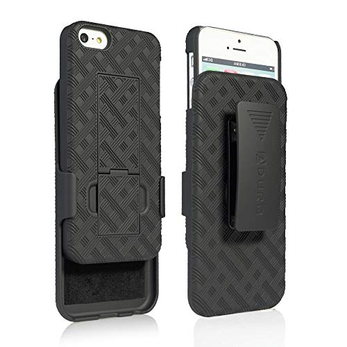 Aduro Shell Holster Combo Case for Apple iPhone SE (1st Gen 2016) / 5 / 5S with Kick-Stand & Belt Clip