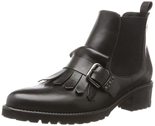 Peter Kaiser Damen BRILIA Chelsea Boots, Grau (Carbon Nappa Schwarz Nappa), 40 EU