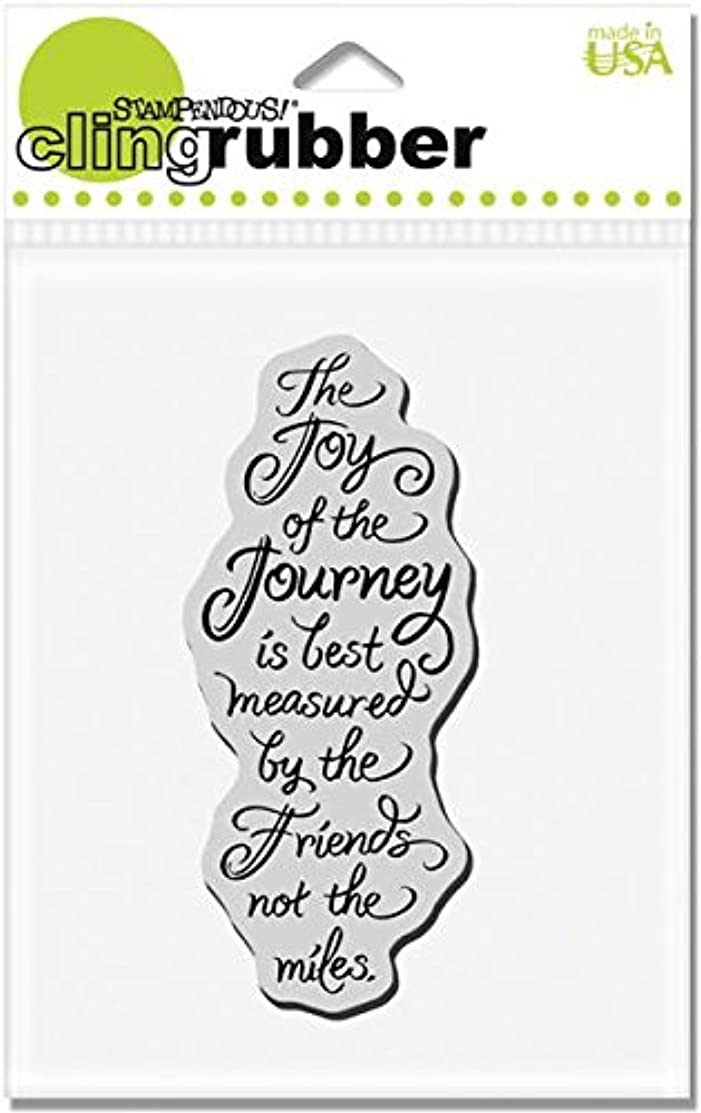 STAMPENDOUS CRN237 Cling Rubber Stamp, Joy of Journey