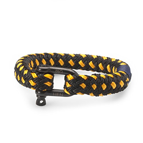 Pig and Hen Rum Ron Herren-Armband Black/Yellow P11-90301 (18)