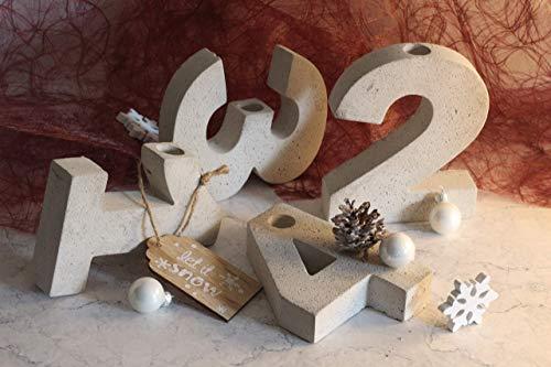 Beton Zahlen Adventskranz 1-4 | Advent | Weihnachten | Tischdeko