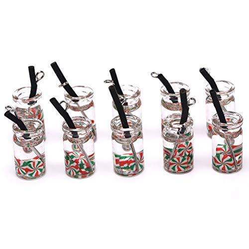 TBoxBo 20 colgantes de resina para botellas de bebidas dulces para hacer joyas, collares, pulseras, pendientes, accesorios de joyería y abalorios