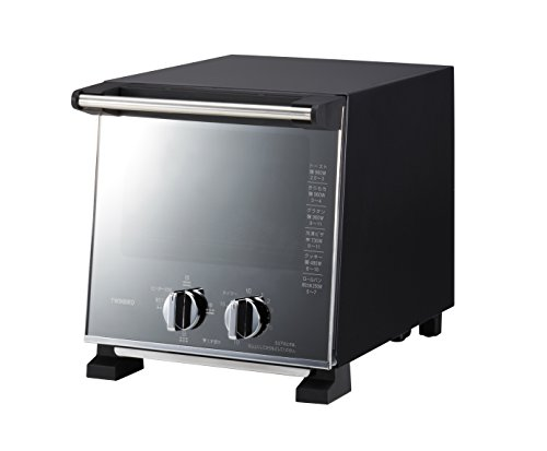 ツインバード オーブントースター スリム ミラーガラス トースター 2枚 出力切替 (250W~900W) TS-D037PB