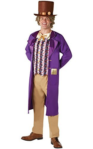 Rubies 's oficial Willy Wonka y la fábrica de Chocolate para adulto