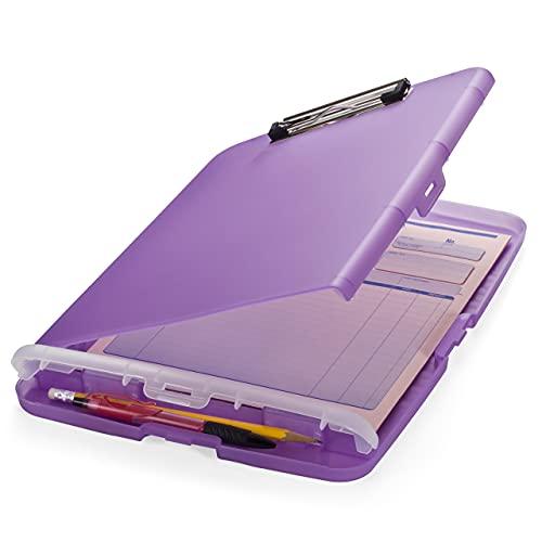 Officemate Slim Clipboard Storage Box, Translucent Purple (83305)