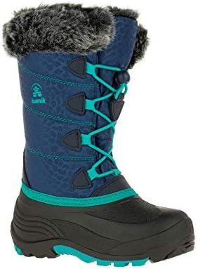 Kamik Kids' Snowgypsy 3 Winter Boots & Knit Cap Bundle