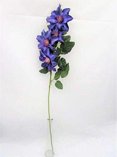 Clématite artificielle 80 cm Spray – Décoration Violet Plante – Pied de floraison