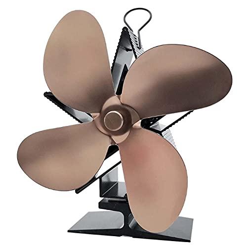 Ventilatore a 4 lame, alimentato a calore per stufa, ventilatore per camino a energia termica, con rilevamento automatico della stufa a legna, per il raffreddamento della caldaia familiare, C