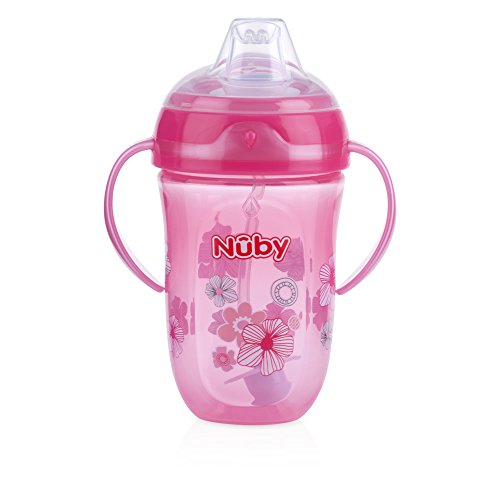 Nuby 360 2 Handle Comfort Cup, Girl, 9 Ounce ( Color may vary )