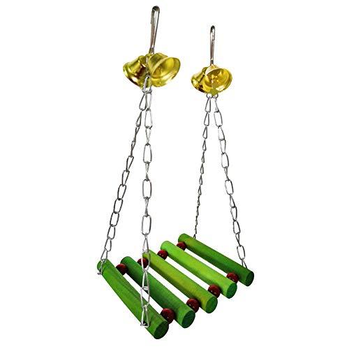 Tangbasi Vrolijke 1/5 Stks Kerstmis Huisdier Vogel Papegaai Speeltuin - Rotan Bal Katoen Touw Opknoping Swing Kauwen Depressing Toy, 1Pc Chain Swing