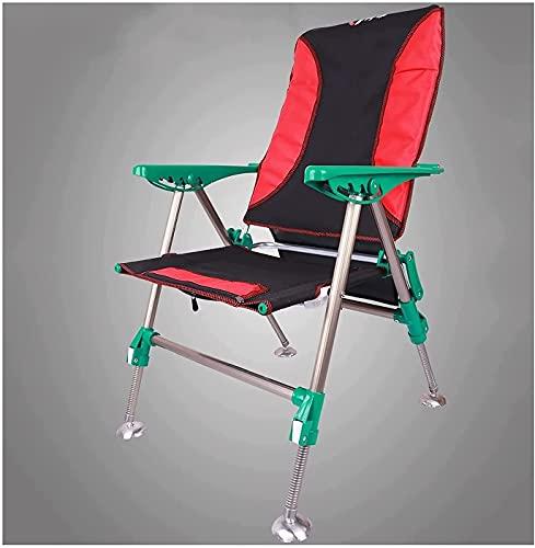 Sillas de Camping Portátiles, Sillón de cacahueces de Pesca sillón reclinable portátil con Patas de elevación cojín extraíble for Camping Playa sillones de Ocio, Silla Plegable Ligera