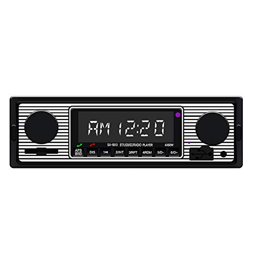 DishyKooker Vintage Car Radio MP3 Player Stereo USB AUX Classic Car Stereo A-udio The Latest Stylish,The Best Gift for Family or Friends