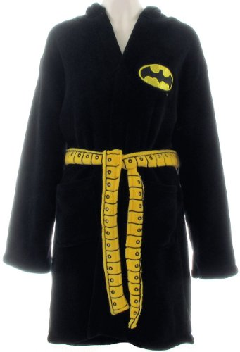 Toy Zany Batgirl Womens Hooded Costume Bathrobe - S/M