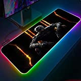 Mouse Pads Call of Duty Black Ops Gamer RGB Mouse pad Keyboard Pad Large Desktop Pad LED Game Desk Mat 24x12x0.15 inch