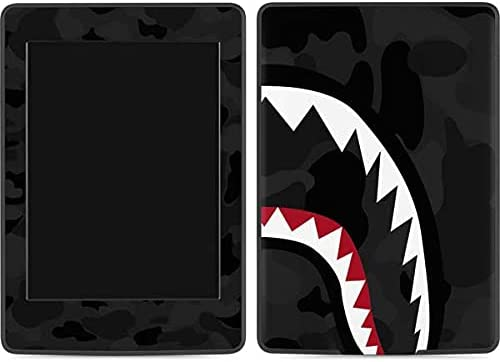 Skinit Decal Tablet Skin Compatible with Kindle Paperwhite E-Reader 6in - Officially Licensed Originally Designed Shark Teeth Grey Street Camo Design