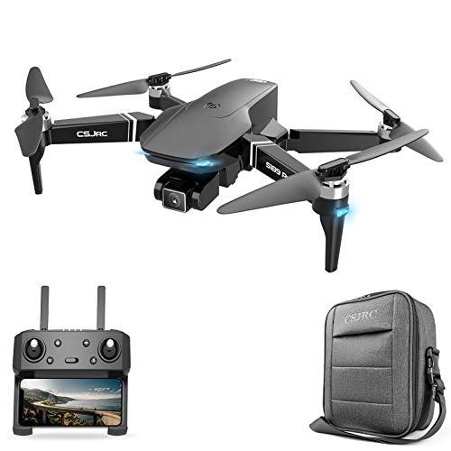 ZIEM CSJ S189 PRO Drone GPS con Fotocamera 4K Motore Brushless Quadcopter 5G WiFi FPV Drone Doppia Fotocamera per Adulti Auto Follow/Return Surround Fly 25 Minuti di Volo con Custodia