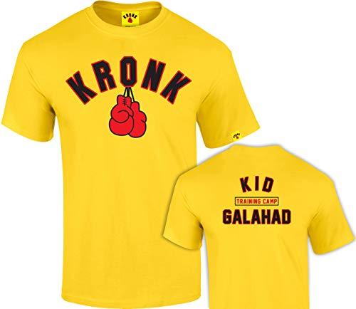 KRONK Boxen Kid Galahad Trainingslager T-Shirt Normale Passform Gelb Groß