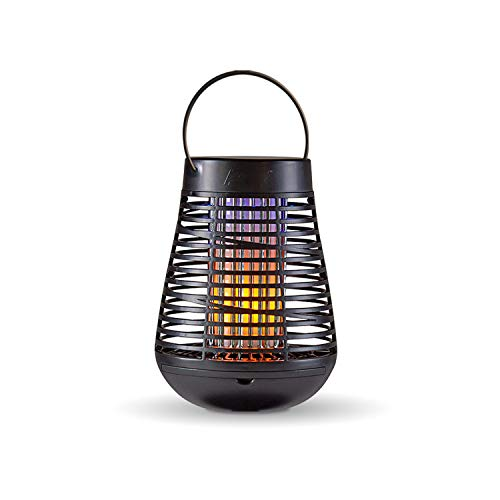 PIC Portable Solar Insect Killer Torch (FLPT), Bug Zapper and Flame Accent Light, Kills Bugs on Contact - Twin Pack
