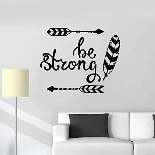 Es una etiqueta de pared fuerte flecha pluma estilo étnico decoración del hogar dormitorio sala de estar vinilo ventana pegatina arte mural