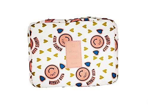 Ducomi® Travel Season Beauty Case – Bolsa de viaje – Organizador de viaje unisex – Tamaño: 22 x 17 x 8 cm, Smile (Multicolor) - CN_BEAUTY_TRAVEL_SMILE