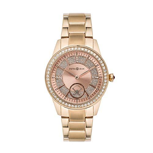 PIPPA&JEAN Watch Damen Uhr Analog Quarz Edelstahl Armband Rosegold