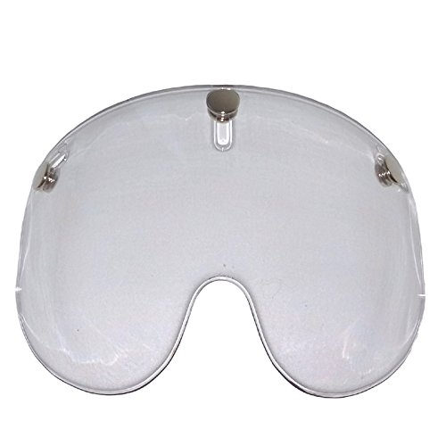 Bandit Shorty Visier für Jet Helme,zum anknöpfen,passt fast an jeden Jethelm, Sports-Farbe:clear