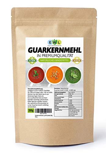 Gomme de Guar E 412 3.500 cps 200g Qualité prouvée Faible teneur en glucides