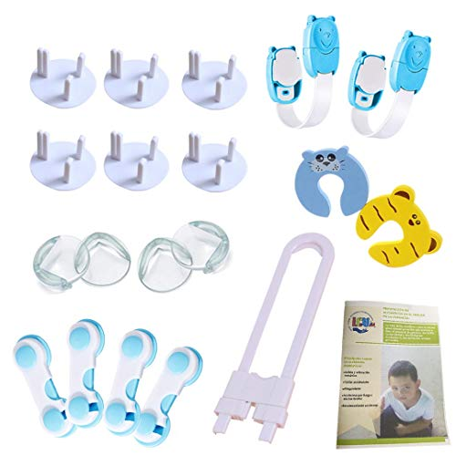 HoganeyVan Lock and Key Baby Child Safety Protect Locks Fridge Guard Cupboard Refrigerator Door Drawer Home Indoor Safety Latch Easy to Install