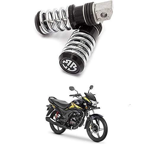Glito Black Color Bike Spring Foot Rest -Honda CB Shine