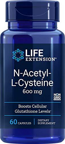 Life Extension N-acetil-L-cisteina, 600mg, 60 Capsule vegetariane